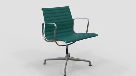 Vitra Aluminium Chair 107 Teal