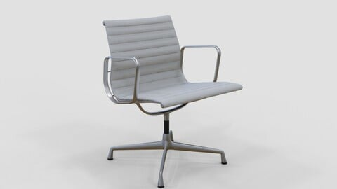 Vitra Aluminium Chair 107 White