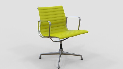 Vitra Aluminium Chair 107 Yellow