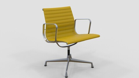 Vitra Aluminium Chair 107 Yellow Oxide