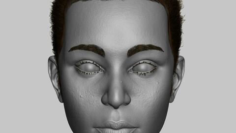 Female Head (Zbrush Model)