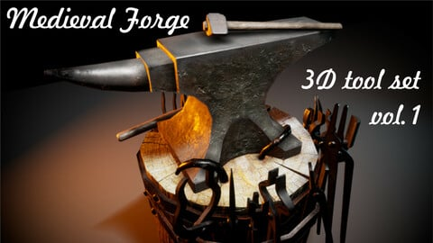 Medieval Forge tool set (vol.1)