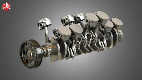 V12 Engine-12 Cylinders