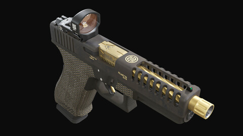 Custom Glock 17 pistol