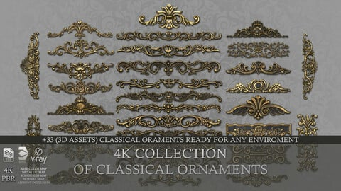 Collection of classical ornaments