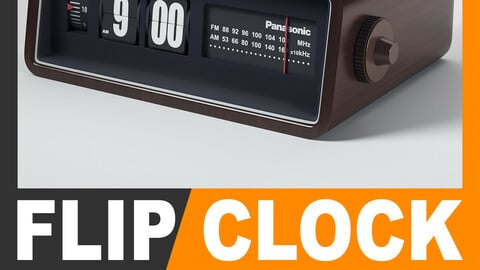 Retro Radio Alarm Flip Clock