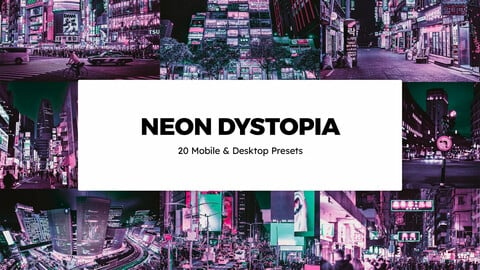 20 Neon Dystopia LUTs and Lightroom Presets