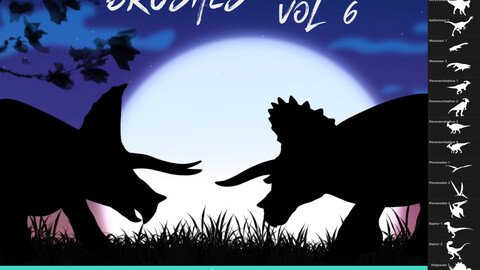 33 Dinosaur Brushes for Procreate Vol 6
