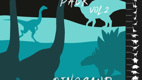 Herbivore Pack - 49 Dinosaur Brushes for Procreate Vol 2