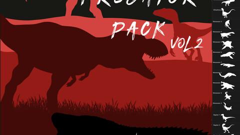 Predator Pack - 43 Dinosaur Brushes for Procreate Vol 2