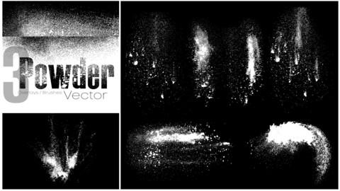 Powder Overlay / Brush Vectors Set 3
