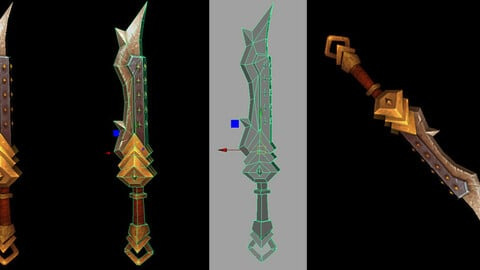 #stylizedgameart  | stylized game sword | maya modeling and  texturing tutorial for beginners