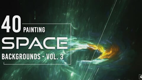 40 Space Painting Backgrounds - Vol. 3