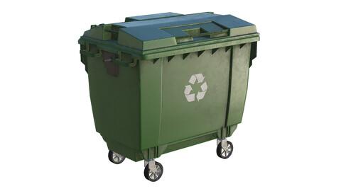 Street Trash Can Dumpster 3D model