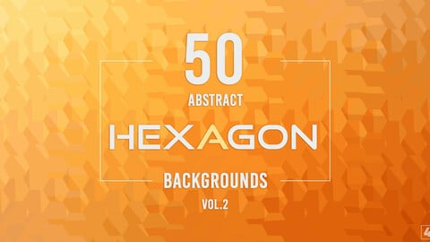 50 Abstract Hexagon Backgrounds - Vol. 2