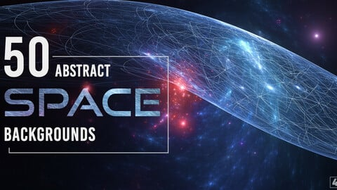 50 Abstract Space Backgrounds - Vol. 1