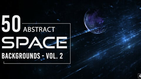 50 Abstract Space Backgrounds - Vol. 2