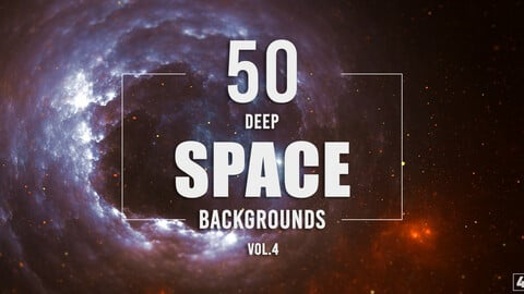 50 Deep Space Backgrounds - Vol. 4