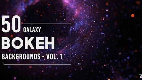 50 Galaxy Bokeh Backgrounds - Vol. 1