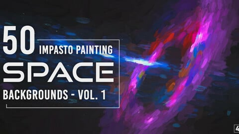 50 Impasto Painting Space Backgrounds - Vol. 1