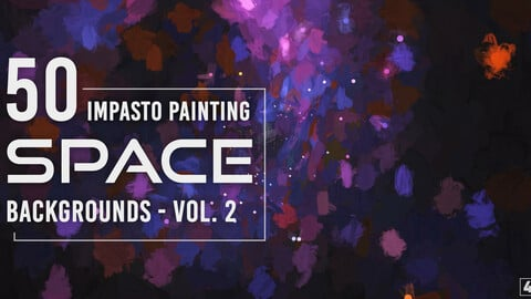 50 Impasto Painting Space Backgrounds - Vol. 2