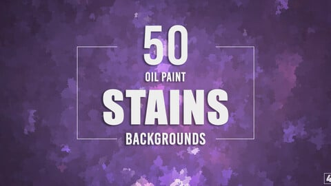 50 Oil Paint Stains Backgrounds