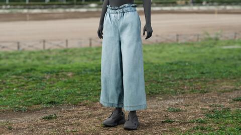 Realistic 3D model of Womens Pants 4