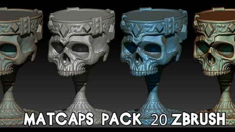 Matcaps pack 20 Zbrush