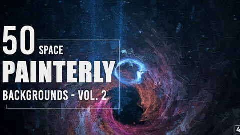 50 Painterly Space Backgrounds - Vol. 2