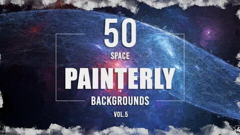 50 Painterly Space Backgrounds - Vol. 5