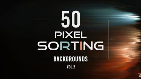 50 Pixel Sorting Backgrounds - Vol. 2