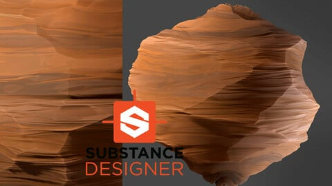 Stylized Desert Cliff Wall - Substance Designer File and Videos