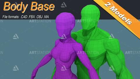 Low Poly Stylized Base Meshes Isometric Icon