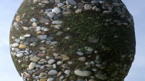 Mossy Gravel 1 PBR Material