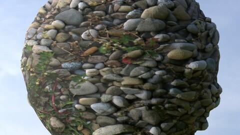 Mossy Gravel 2 PBR Material