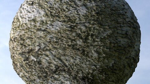 Mossy Wall 1 PBR Material
