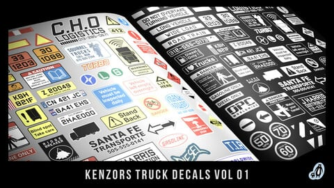 Kenzors Truck Decals vol 1