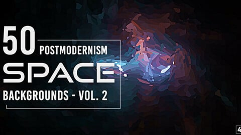 50 Postmodernism Space Backgrounds - Vol. 2