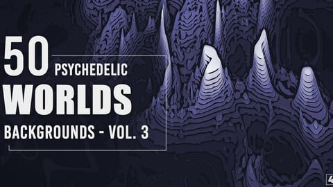 50 Psychedelic Worlds Backgrounds - Vol. 3