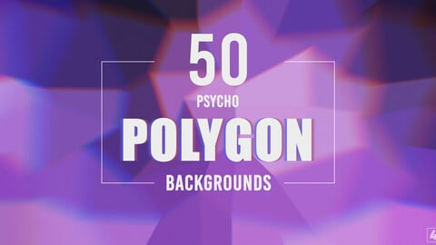 50 Psycho Polygon Backgrounds