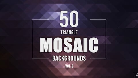50 Triangle Mosaic Backgrounds - Vol. 2