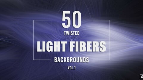 50 Twisted Light Fibers Backgrounds - Vol. 1