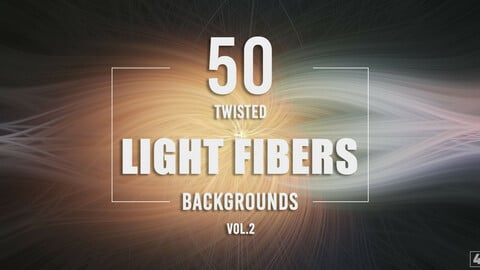50 Twisted Light Fibers Backgrounds - Vol. 2