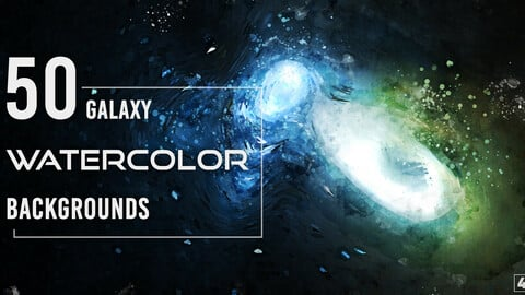 50 Watercolor Galaxy Backgrounds