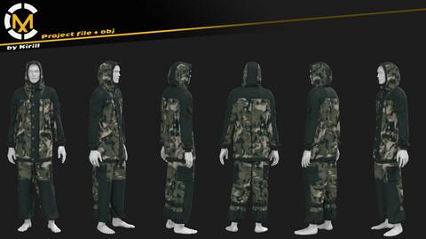 Tactical Suit. Clo3D/Marvelous Project + Obj.