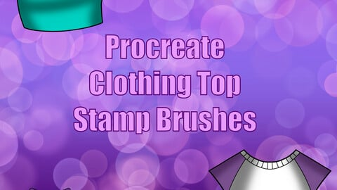 Procreate Clothing Top Stamp Brushes