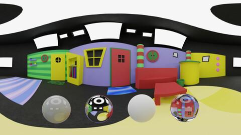 Kids TV show set HDRI