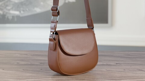 Realistic 3D model of Womens Bag 14