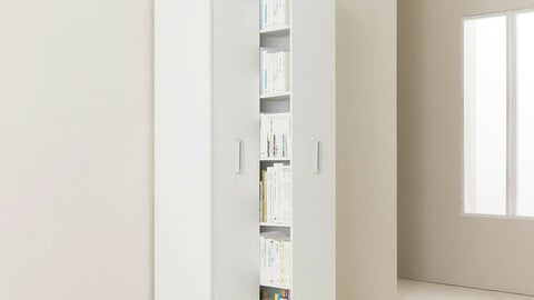 Saber sliding two-stage general bookshelf