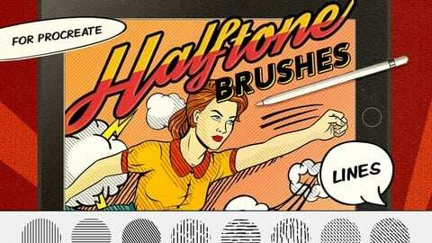 Vintage Comics: Line Procreate Brushes